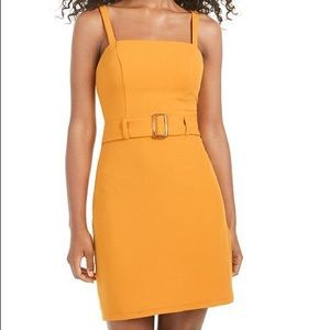 B. Darlin mustard bodycon belted dress size 1/2